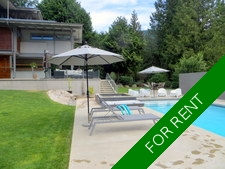 West Vancouver view home/Pool for rent:  4 bedrooms, den, office, media room  (Listed 2017-10-01)